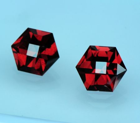 hexagon gemstone garnets