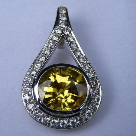 sappen1 - Sterling Silver Pendant