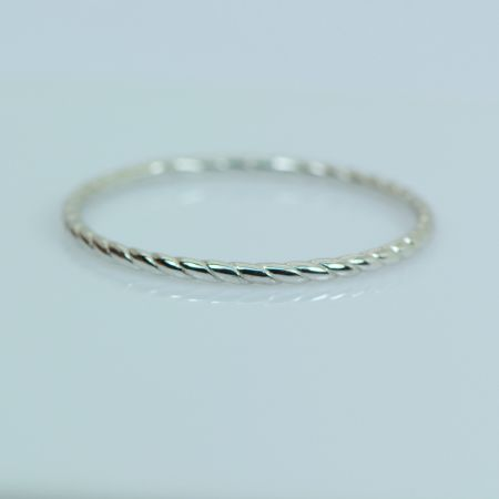 Silver Twisted Wire Ring