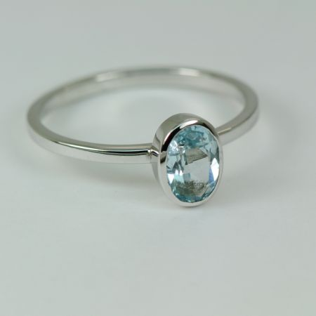 Topaz Thin Band Ring