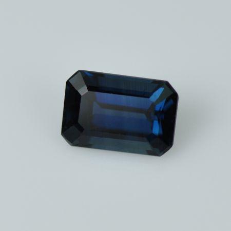 Emerald Cut Blue Sapphire
