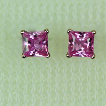 Pink Princess Sapphire Earrings